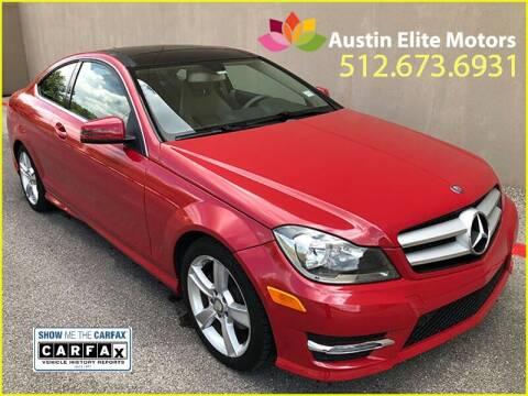 2013 Mercedes-Benz C-Class for sale at Austin Elite Motors in Austin TX