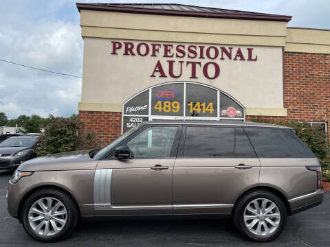 2015 Land Rover Range Rover for sale at Professional Auto Sales & Service in Fort Wayne IN