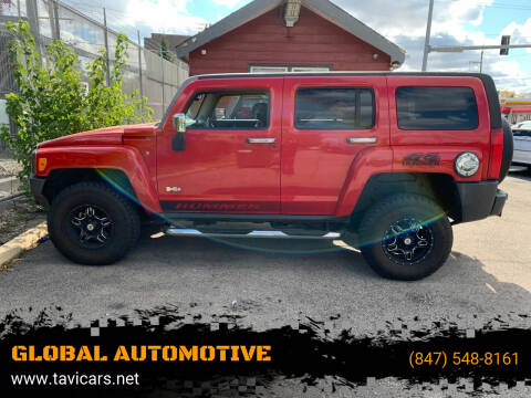 2007 HUMMER H3 for sale at GLOBAL AUTOMOTIVE in Gages Lake IL