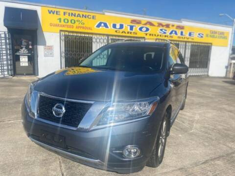 2014 Nissan Pathfinder Hybrid for sale at Sam's Auto Sales in Houston TX