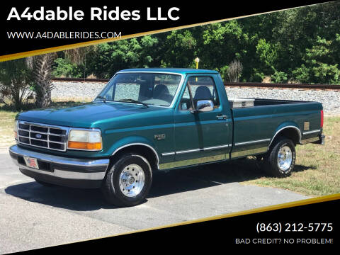 1996 Ford F-150 for sale at A4dable Rides LLC in Haines City FL