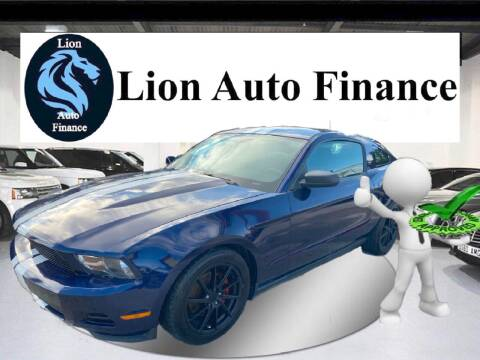 2012 Ford Mustang for sale at Lion Auto Finance in Houston TX