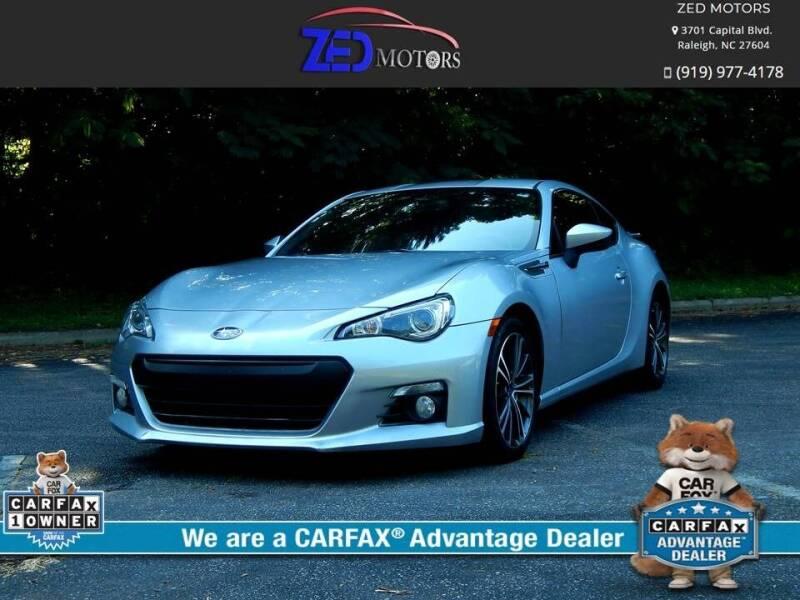 2015 Subaru BRZ for sale at Zed Motors in Raleigh NC