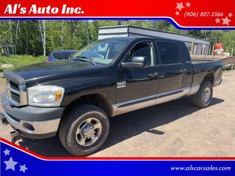 2007 Dodge Ram Pickup 2500 for sale at Al's Auto Inc. in Bruce Crossing MI