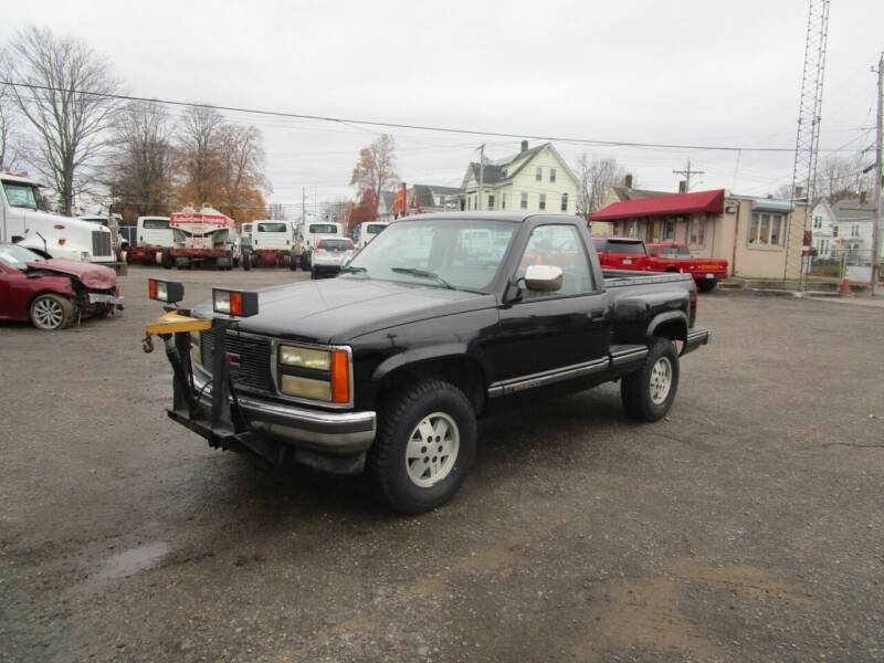1991 GMC Sierra K15 w/7ft Fisher Plow for sale at Lynch's Auto - Cycle - Truck Center in Brockton MA
