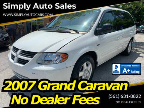 2007 Dodge Grand Caravan for sale at Simply Auto Sales in Palm Beach Gardens FL