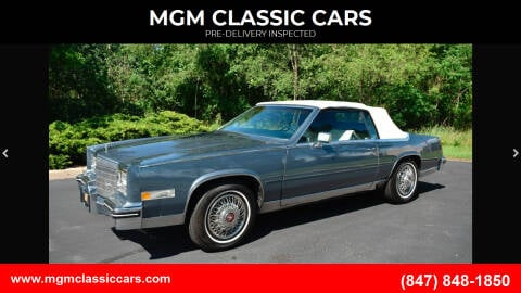 1985 Cadillac Eldorado Biarritz for sale at MGM CLASSIC CARS-New Arrivals in Addison IL
