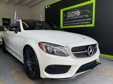 2017 Mercedes-Benz C-Class for sale at GCR MOTORSPORTS in Hollywood FL