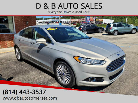 2015 Ford Fusion for sale at D & B AUTO SALES in Somerset PA