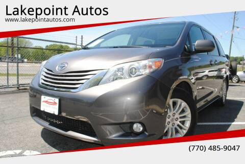 2016 Toyota Sienna for sale at Lakepoint Autos in Cartersville GA