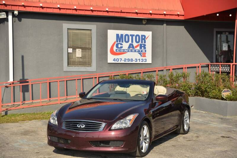 2009 Infiniti G37 Convertible for sale at Motor Car Concepts II - Kirkman Location in Orlando FL