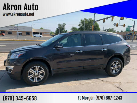 2015 Chevrolet Traverse for sale at Akron Auto - Fort Morgan in Fort Morgan CO