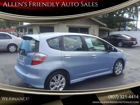 2009 Honda Fit for sale at Allen's Friendly Auto Sales in Sanford FL