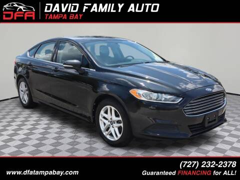 2013 Ford Fusion for sale at David Family Auto in New Port Richey FL