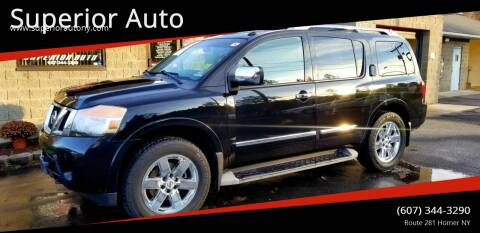 2010 Nissan Armada for sale at Superior Auto in Cortland NY