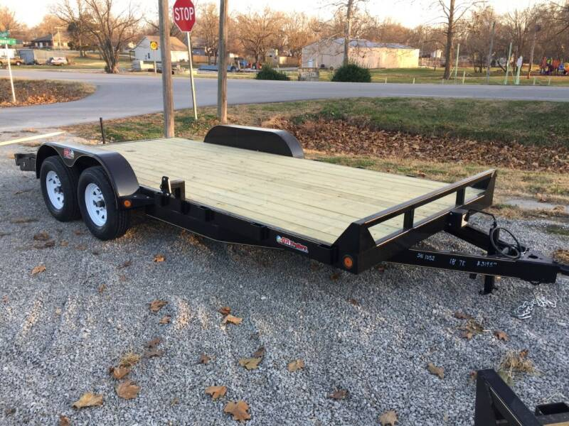 """2021 GRTrailers 82""""x18' 7k dove tail Car Trail for sale at Bailey Auto in Pomona KS"""