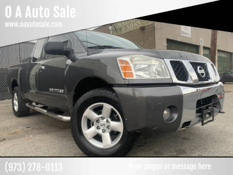 2007 Nissan Titan for sale at O A Auto Sale in Paterson NJ