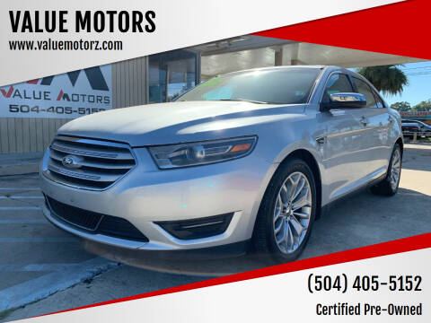 2014 Ford Taurus for sale at VALUE MOTORS in Kenner LA