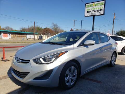 2016 Hyundai Elantra for sale at Shock Motors in Garland TX