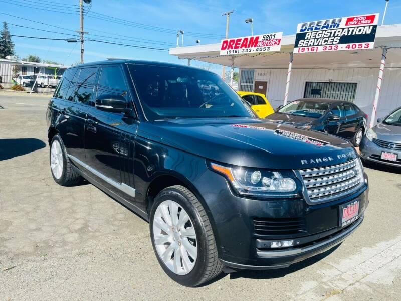 2014 Land Rover Range Rover for sale at Dream Motors in Sacramento CA