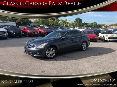 2013 Infiniti G37 Sedan for sale at Classic Cars of Palm Beach in Jupiter FL