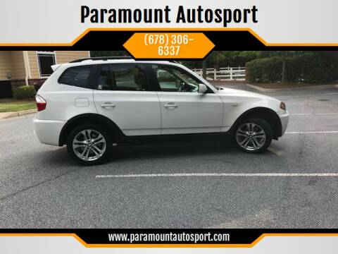 2006 BMW X3 for sale at Paramount Autosport in Kennesaw GA