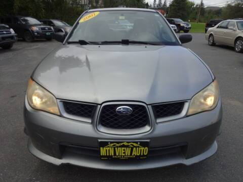 2007 Subaru Impreza for sale at MOUNTAIN VIEW AUTO in Lyndonville VT