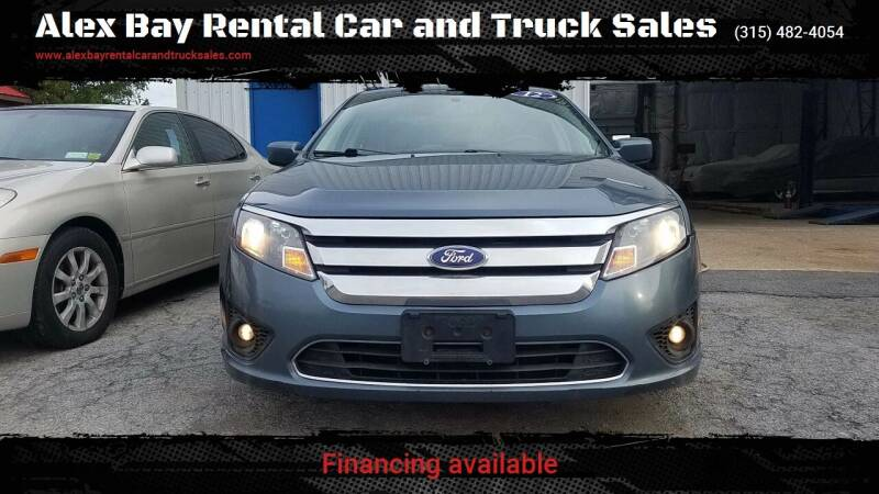 2012 Ford Fusion for sale at Alex Bay Rental Car and Truck Sales in Alexandria Bay NY