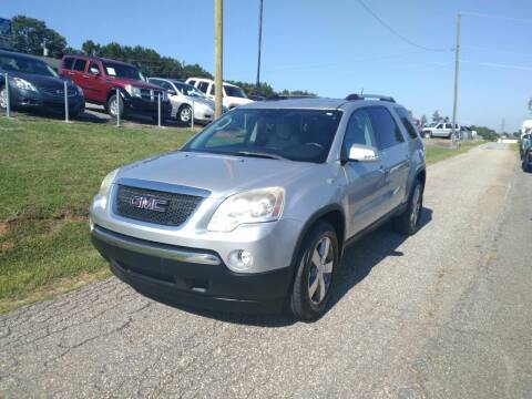 2011 GMC Acadia for sale at Hillside Motors Inc. in Hickory NC