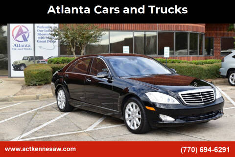 2008 Mercedes-Benz S-Class for sale at Atlanta Cars and Trucks in Kennesaw GA