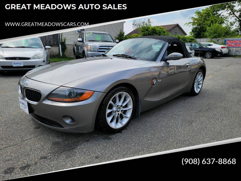 2004 BMW Z4 for sale at GREAT MEADOWS AUTO SALES in Great Meadows NJ