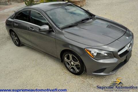 2014 Mercedes-Benz CLA for sale at Supreme Automotive in Land O Lakes FL