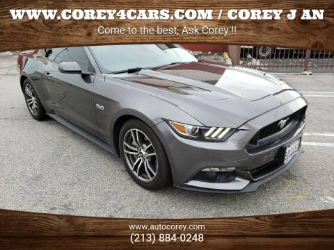 2017 Ford Mustang for sale at WWW.COREY4CARS.COM / COREY J AN in Los Angeles CA