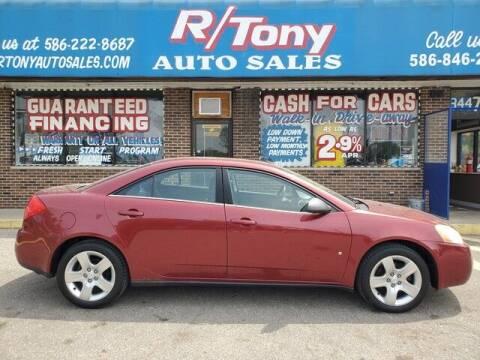 2009 Pontiac G6 for sale at R Tony Auto Sales in Clinton Township MI