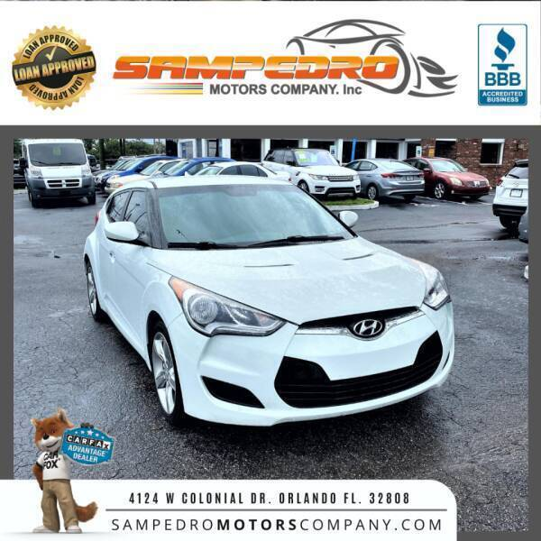 2015 Hyundai Veloster for sale at SAMPEDRO MOTORS COMPANY INC in Orlando FL