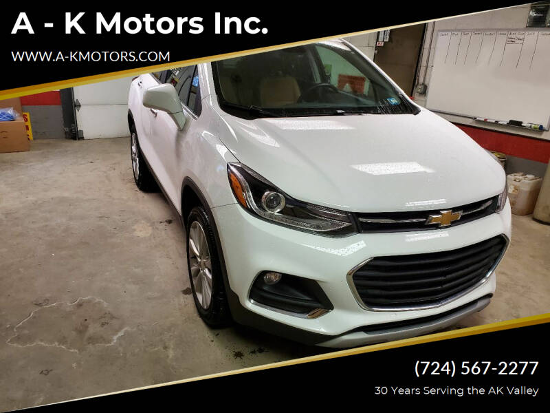 2017 Chevrolet Trax for sale at A - K Motors Inc. in Vandergrift PA