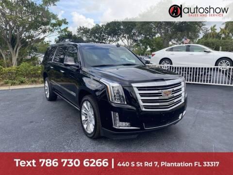 2018 Cadillac Escalade ESV for sale at AUTOSHOW SALES & SERVICE in Plantation FL