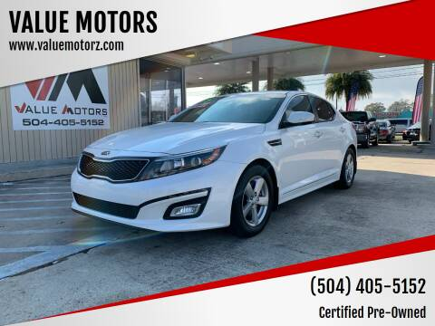 2015 Kia Optima for sale at VALUE MOTORS in Kenner LA