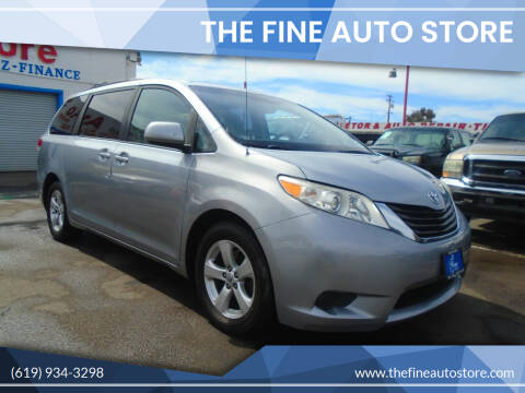 2012 Toyota Sienna for sale at The Fine Auto Store in Imperial Beach CA
