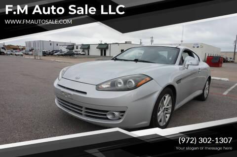 2008 Hyundai Tiburon for sale at F.M Auto Sale LLC in Dallas TX