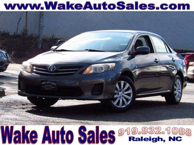 2013 Toyota Corolla for sale at Wake Auto Sales Inc in Raleigh NC