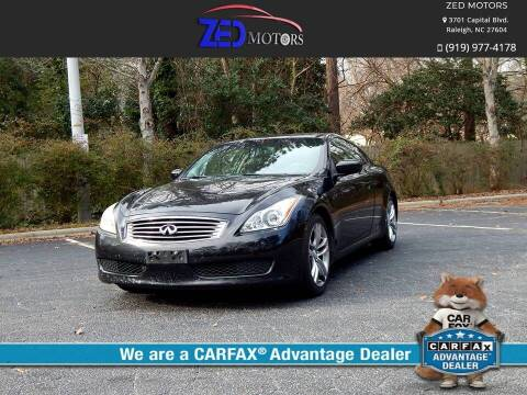 2008 Infiniti G37 for sale at Zed Motors in Raleigh NC