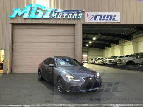 2014 Lexus IS 250 for sale at MGI Motors in Sacramento CA