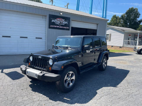 2013 Jeep Wrangler Unlimited for sale at Jack Foster Used Cars LLC in Honea Path SC