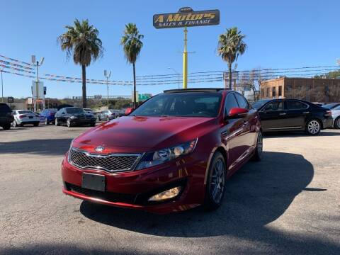 2012 Kia Optima for sale at A MOTORS SALES AND FINANCE in San Antonio TX
