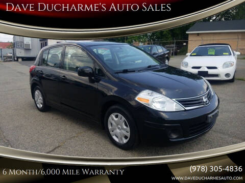 2012 Nissan Versa for sale at Dave Ducharme's Auto Sales in Lowell MA