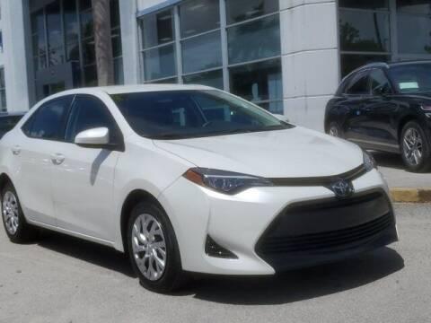 2018 Toyota Corolla for sale at DORAL HYUNDAI in Doral FL