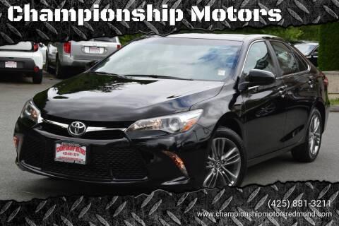 2016 Toyota Camry for sale at Mudarri Motorsports - Championship Motors in Redmond WA