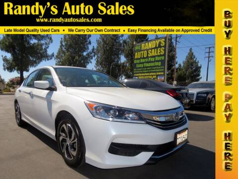 2017 Honda Accord for sale at Randy's Auto Sales in Ontario CA