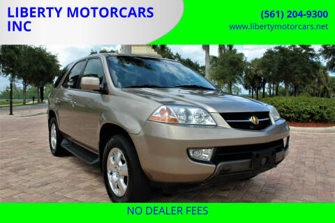 2003 Acura MDX for sale at LIBERTY MOTORCARS INC in Royal Palm Beach FL